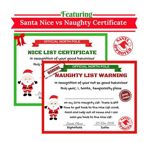 printable warning letter from santa santa nice list certificate santa naughty list by cuteartclip