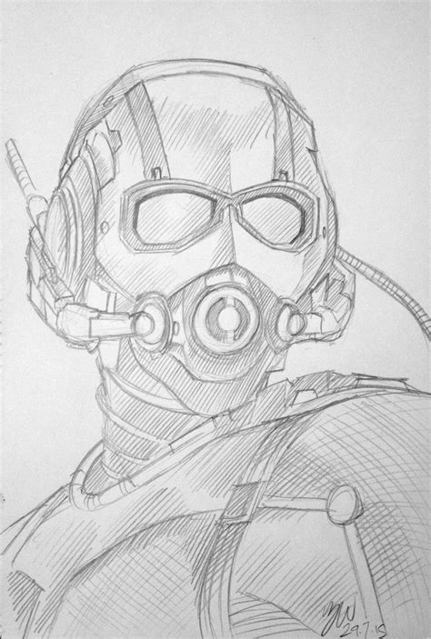 sketchbook how to draw antman sketch by lazytigerart on deviantart