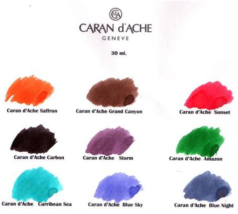 all the colors of the earth caran d ache inks all the colours of the earth casa
