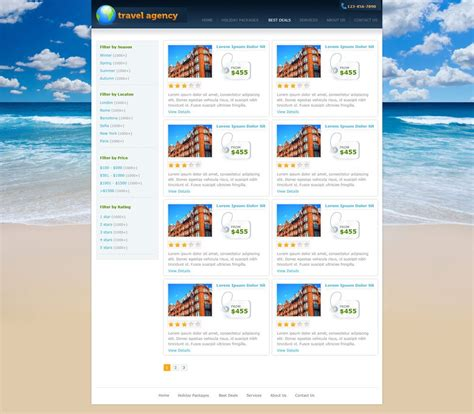 templates for travel website travel website template free travel agency website