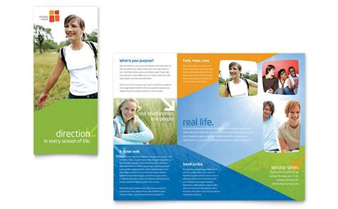 free church brochure templates for microsoft word church youth ministry brochure template design