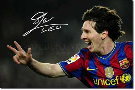 messi brief biography lionel messi signed photo print 3 barcelona football
