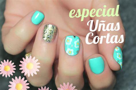 imagenes de uñas sencillas manicura muy f 225 cil para u 241 as cortas nail art flores