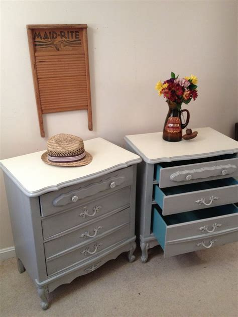 paris grey chalk paint dresser paris grey and old white painted nightstands by furniture