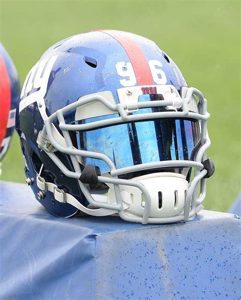 helmet design changes new york giants dt marvin austin s facemask via nfl
