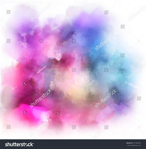 colorful watercolor background stock illustration