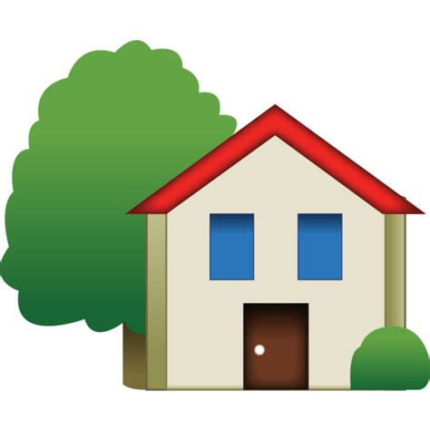 haus icon house emoji with tree emoji island
