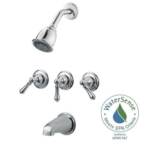 Faucet Repair Kit Pfister 3 Handle Tub And Shower Faucet Trim Kit In