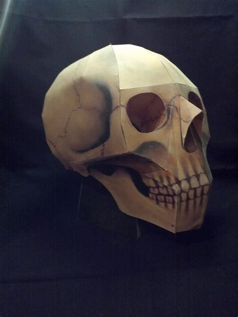 Papercraft Skull - papercraft skull by xanokah on deviantart