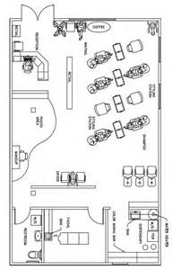 Floor Plan Of A Salon beauty salon floor plan design layout 1390 square foot