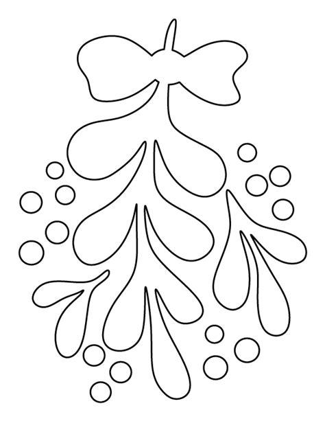 pattern for felt mistletoe mistletoe pattern use the printable outline for crafts