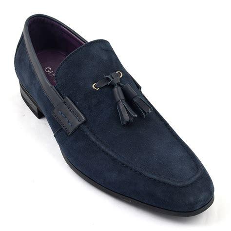 mens navy tassel loafers buy mens navy suede tassel loafer gucinari shoes