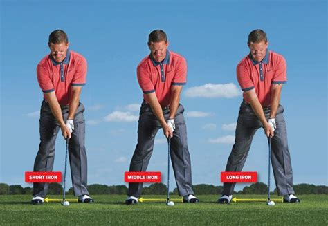 hitting or swinging golf sean foley keep your ball position constant golf digest