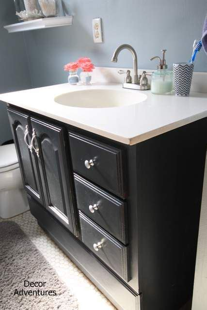 17 best ideas about bathroom vanity makeover on