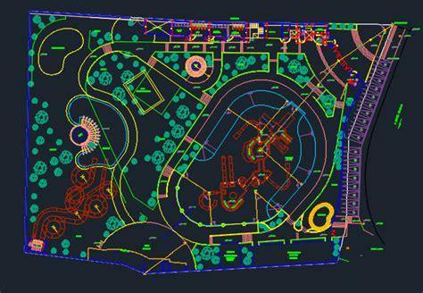 Floor Plans In Spanish water park 2d dwg design plan for autocad designscad
