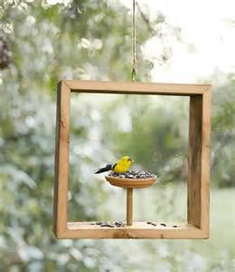 Creative wooden bird feeder idea