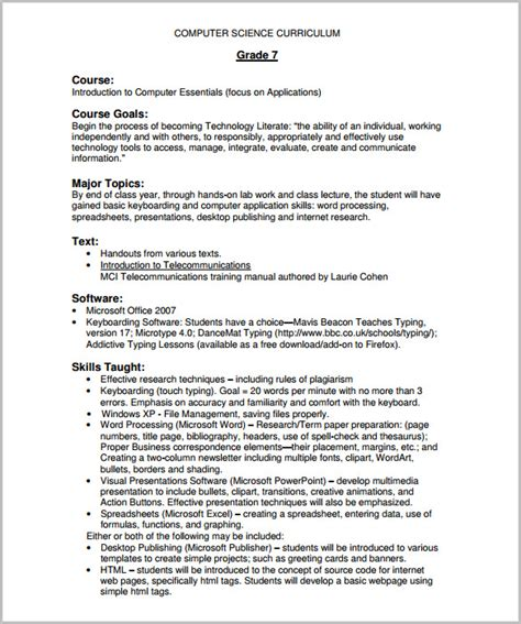 training course outline template 15 free free word pdf