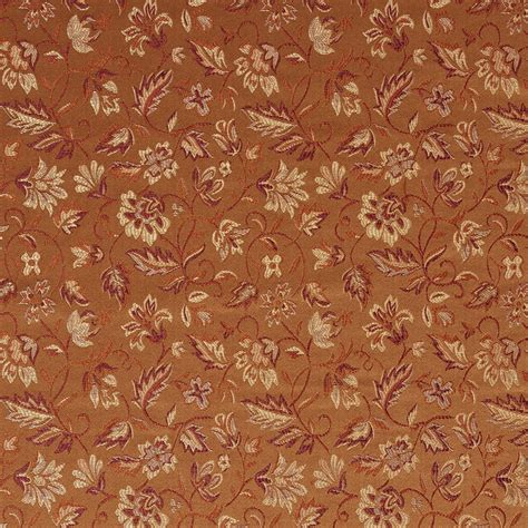red damask upholstery fabric e621 floral orange red gold damask upholstery drapery