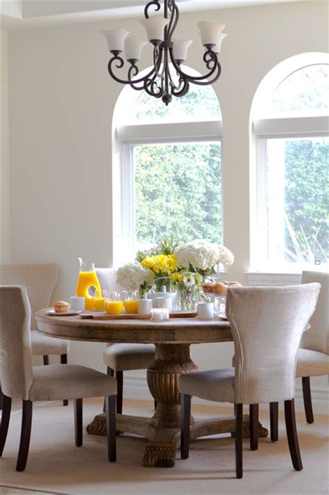 Round Dining Room Sets For 8 light and bright breakfast nook traditional dining