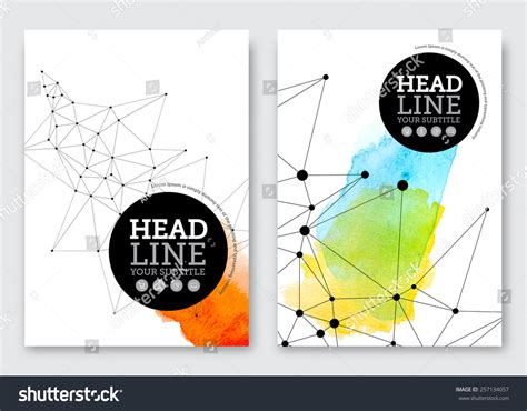 poster abstract layout vector poster design template business abstract stock