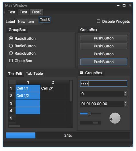 qt5 custom layout how to create vs2013 like frameless window with dark style
