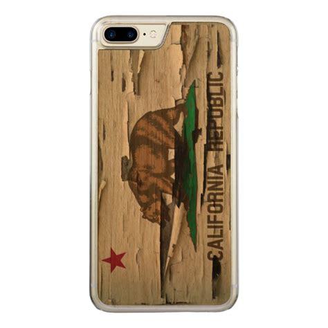 Iphone Iphone 6 California Flag On Wood flag of california republic vintage wood peel look carved