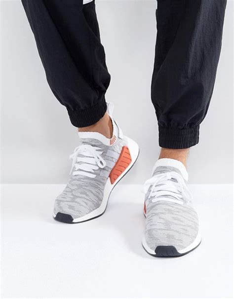 Adidas Nmd R2 White Original Sneakers adidas originals adidas originals nmd r2 primeknit trainers in white by9410