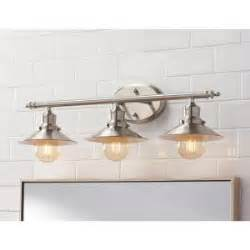 Retro Bathroom Lighting Home Decorators Collection 3 Light Brushed Nickel Retro Vanity Light 1001564508 The Home Depot