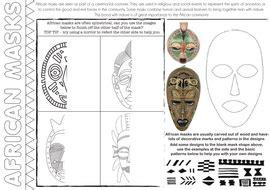 zulu printable worksheets african masks and patterns worksheets set of 3 by rnd86