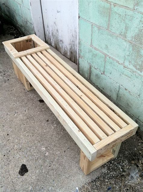 wooden bench planter boxes pallet wood planter box and bench completely reclaimed