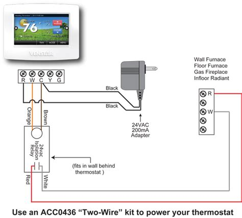 gas furnace 2wire thermostat wiring diagram
