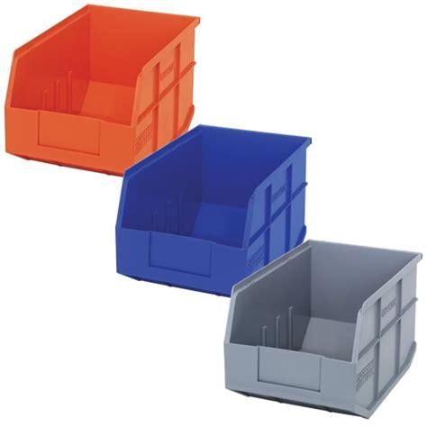 quantum 174 stackable shelf bins u s plastic corp