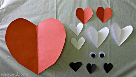 Craft Paper Hearts - fox crafts for big