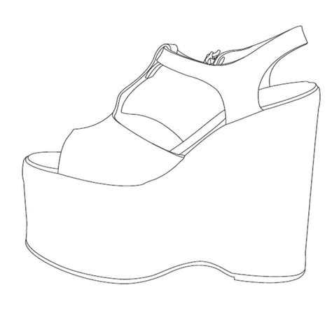 high heel shoe template craft high heel stencil faalconn