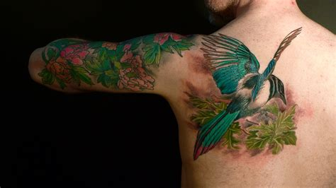 bird tattoo designs for men bird flower design for tattooshunt