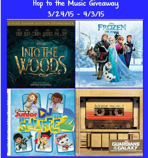 Music Giveaway - hop to the music review giveaway 4 disney soundtrack cds disneymusic