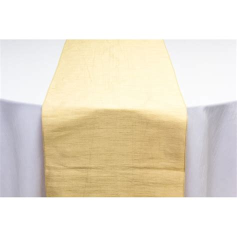 yellow gold table runner gold duponi table runner great events rentals