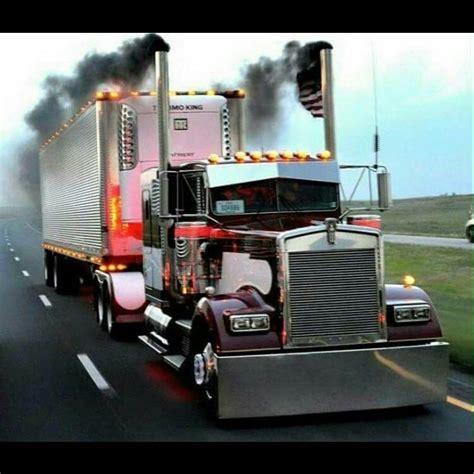 big kenworth trucks kenworth custom w900l rollin coal semi crazy pinterest