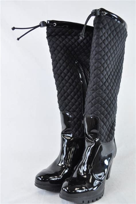 andre assous sun black patent leather snow boot