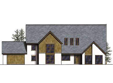 Open Plan Barn Style Property Homebuilding Renovating House Designs Traditional Uk