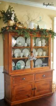 sophia s christmas cabinet vignette