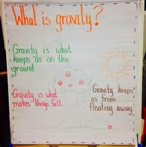 what is gravity kindergarten anchor chart science in