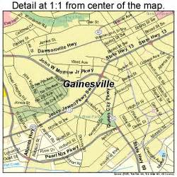 map of gainesville gainesville map 1331908
