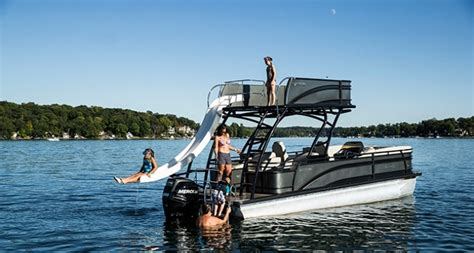 deck boat with slide solstice rd 260 recreational top deck with fiberglass