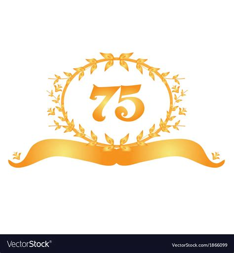 75th anniversary color 75th anniversary banner royalty free vector image