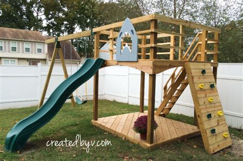backyard slide plans diy outdoor playset materials tools list created by v