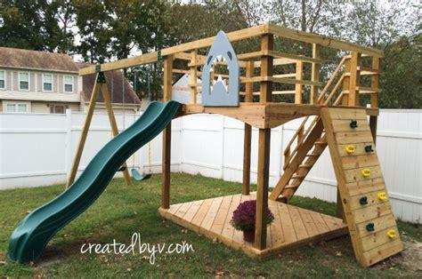diy backyard playset backyard swing set plans diy outdoor playset materials tools list created by v