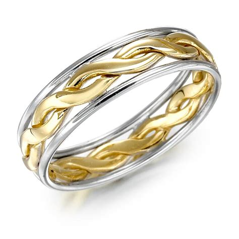 wedding ring mens gold two tone celtic knot