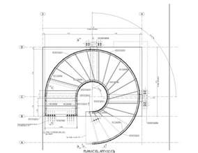 Floor Plan Spiral Staircase shop drawings for structural steel miscellaneous metals concrete