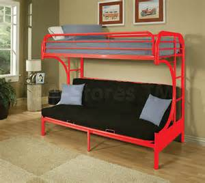 eclipse metal futon bunk bed black bunk beds